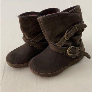 Crocs girls brown boots